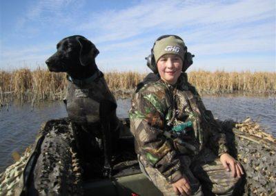 Nephew in duck boat